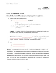 Accounting 201 Chapter 7 financial accounting notes