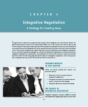 chapter 3 integrated negotiation