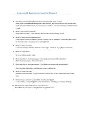 Ch 6 Assignment 2 Questions.docx