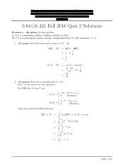 Solutions for exam 2