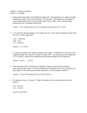 Chapter 1-3 Practice Problems