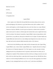 moby dick short essay