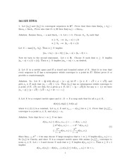 Homework 6 Solution Fall 2013 on Mathematical Analysis