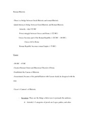 Roman Rhetoric notes