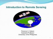 GE 1- Introduction to Remote Sensing
