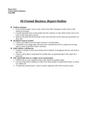 sample formal reports
