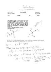 PHY105 - 2010-2011(1) Second Short Exam & Solutions