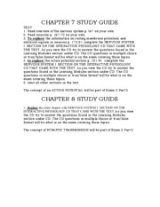 Study Guide Ch. 7 & 8
