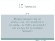 Chapter 10 - Persuasion