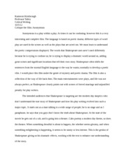 How To Write An Essay High School  Pages An Essay On The Words And Reflections Of Shakespeare Modest Proposal Essay Ideas also Reflective Essay Thesis Essay Reflection Of The Last Lecture  Kameron Kimbrough Critical  Locavores Synthesis Essay