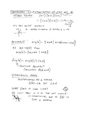 MTHE 326 Lecture 3 Notes