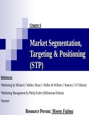 6.Market Segmentation, Targeting & Positioning.ppt