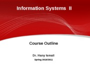 0-IS II GUC 2009 2010 spring- Course Outline