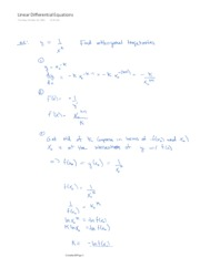 Linear Differential Equations (as PDF)