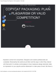 Copycat Packaging_ Plain Plagiarism or Valid competition_ - Mr. Smith