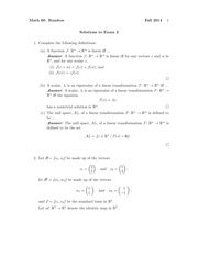 MATH 60 Fall 2014 Midterm 2 Solutions