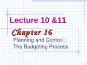 Lecture 10 & 11