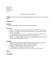 Measurement Lab Cover Sheet