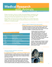 AC Winter 2010 Medical Issues Animal Research