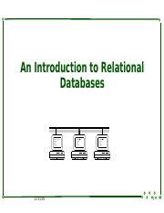 3 An Introduction to Relational Databases