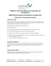 BSBMGT616 Assessment 2_Develop and implement strategic plans.doc