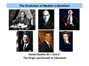 English G9 Student Presentation The Evolution of Modern Liberalism(Coursepack)