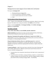 REAL 370 - Principles of Real Estate - Chapter 11 Notes