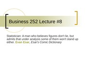 Business 252 8 Even More Linear Regression