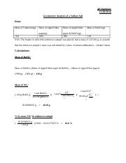 Gravimetric Analysis of a Sulfate Salt .docx