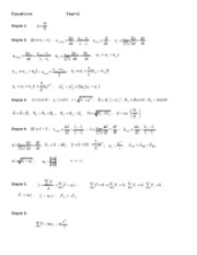 Equations- Exam1