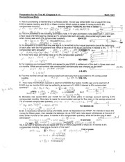 MATH1021, Review Questions before Test#2 with notes