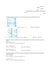 Writing Equations in Point Slope and Standard Form