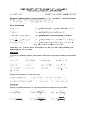 MATH1044_Worksheet_4_-_Logarithm