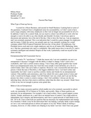 MGMT 437 - Management of Entrepreneurial Enterprises - Hillary Hurst Passion Plan Paper