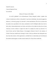 English ll Classical Argument Essay Second Draft
