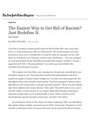 The Easiest Way to Get Rid of Racism? Just Redefine It. - The New York Times.pdf