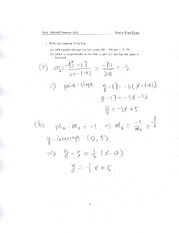 MATH1090 Pratice Final Exam with Answers