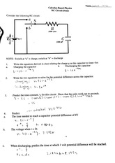 RC Circuit Demo Worksheet