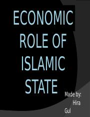 Economic Role of Islamic State