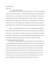 john and abigail adams essay analysis of correspondence between  3 pages abigail adams bio