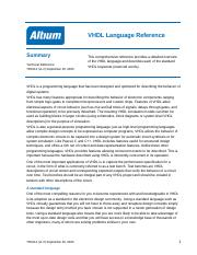 VHDL Language Reference