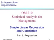 1 Regression