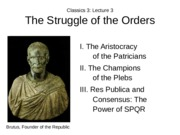 Lecture 3 Struggle of the Orders