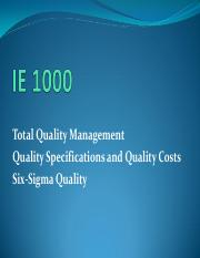 Total Quality Management (Meeting 14)