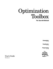 optimization toolbox with matlab