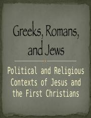 Greeks, Romans, and Jews