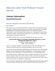 Welcome Letter From Professor Hossein Hemati.docx