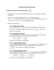 Guidelines for Partial Fraction Decomposition