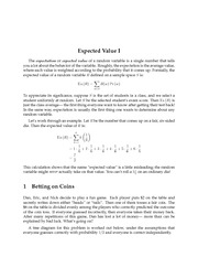 Expected Value I