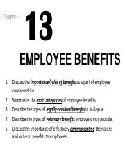 CHP 13_EMPLOYEE BENEFITS_Sep2015_EL